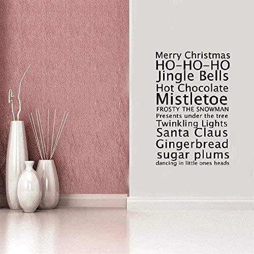 wandaufkleber 3d Wandtattoo Wohnzimmer Frohe Weihnachtsgrüße in englischer Sprache Sprichwörter Mode Wohnzimmer Schlafzimmer Kinderzimmer