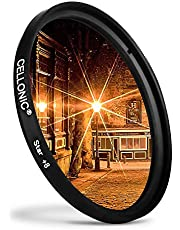 CELLONIC® Filtro Estrella 8 PT Compatible con Sony Ø 77mm (8 Point) Star Filter, Cross Filter