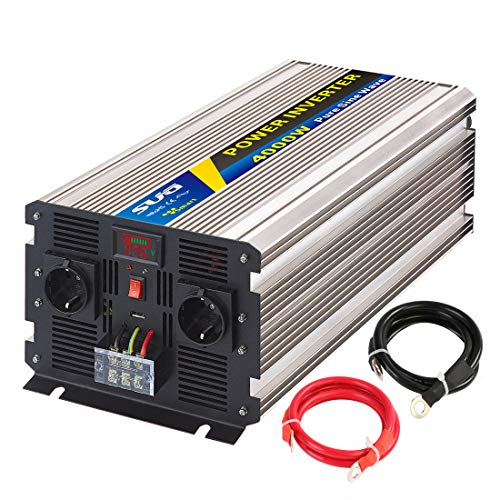 Sug 4000W DC 24V auf AC 220V 230V Wechselrichter Reiner Sinus Spitzenwert 8000W Spannungswandler Power Inverter Pure Sine Wave
