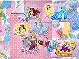 Disney Princess Adventure Rules 4pc Toddler Bedding Set - Belle - Ariel - Tanggled -Cinderella