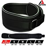 APRODO Unisex 6'' inch Wide Nylon Eva Waist Support Belt Sport Pressurized Weightlifting