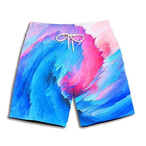 Mens Shorts Strand Broek 3D Kleur Inkt Schilderij Gedrukt Zomer Board Shorts Snelle Droge Sport Zwembroek Surfen Vakantie Vrije tijd Broek
