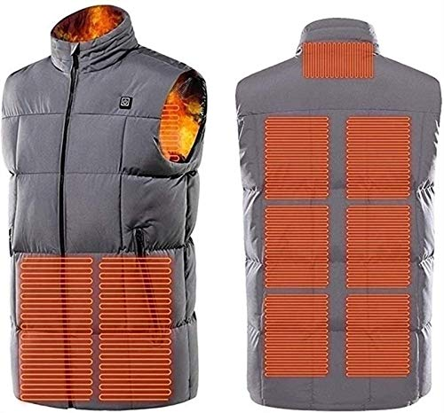 Heated Vest, Vest Warming Man, USB Charging Electrical Heating Jacket with 9 Heating Zones, Washable Winter Heated Jacket for Winter