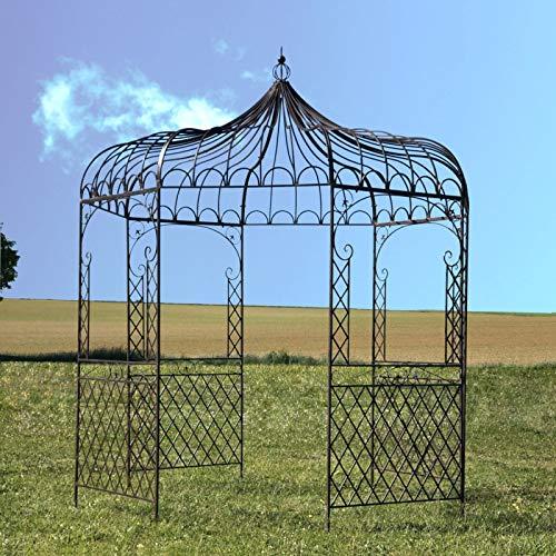 L'ORIGINALE DECO Gloriette Tonnelle en Fer de Jardin Ronde Marron ø250 cm Pergola