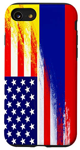 iPhone SE (2020) / 7 / 8 USA Colombia Flag Colombian Pride Heritage Gift Immigrant Case