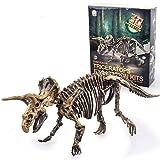 ALLCELE Juguetes de excavación arqueológica de dinosaurio, juguetes de aprendizaje para niños, el mejor regalo para niños y niñas (Triceratops)
