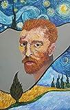 Rompecabezas Divertidos Van Gogh Portrait Magazine Collage Rompecabezas de Madera Abstracto para Adultos Juego de Entretenimiento de Ocio Toy-1000 Piezas (LWE629)