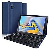 Funda con Teclado Samsung Galaxy Tab A 10.5, Funda para Samsung Tab A 10.5 2018 SM-T590/T595/T597 con Teclado Español [QWERTY Español], Cubierta Magnética Delgada con Visión de Multiángulo (Azul)