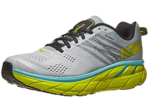 HOKA ONE ONE Men's Clifton 6 Running Shoes, Lunar Rock/Numbus Cloud, 7.5 US