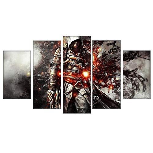 SailorMJY Vlies Leinwandbild,Deko Kunstdrucke, Moderne HD Art Assassin's Creed Gemälde Home Korridor Arbeitszimmer Wohnzimmer Schlafzimmer Dekorative Malerei Kein Rahme