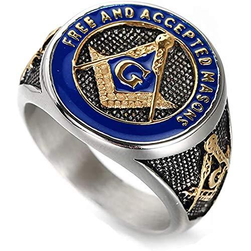 LH&BD Banda de Anillo Masonic Masonic Biker Masonic Biker Masonic Biker,A,9