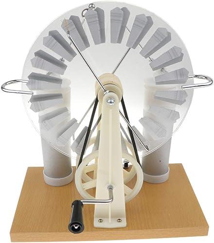 FLAMEER Wimshurst Elektrostatischer Induktionsmotor Set, geeignet für Physikkurs Experimente Unterricht