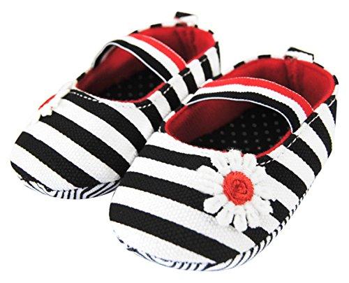 Axy Baby plastique Tapis Chaussures Chaussures bébé 0 à 12 mois – Little Princess – Noir BS4–1 - Noir - noir,