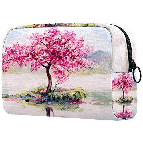 Trousse de toilette pour femme Motif cerisier en fleurs