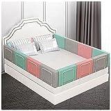 Barrera ajustable para cama de bebé, anticaída, ajustable, de algodón, 1 paquete (50/60 cm), fácil de instalar para cuna para niños pequeños o camas para adultos (tamaño: