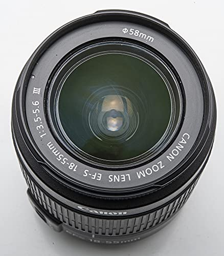 Canon Objektiv EF-S 18-55mm 1:3,5 - 5,6 III ,Bulk, Neu. Speziell für digitale EOS Kameras mit EF-S-Bjonett entwickeltes Zoom-Objektiv. Kompakt und leicht. Hohe Bildqualität bei allen Brennweiten. Optimierte Vergütungsschichten minimieren Streulicht und Reflexe. Hohe AF-Geschwindigkeit. Sehr kurze Naheinstellgrenze. Bleifreie Optik