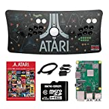 Atari Ultimate Arcade Fightstick USB Dual Joystick with Trackball 2 Player Game Controller Powered by Raspberry Pi 3B+ 1GB RAM 32GB Micro SD Card Preloaded Over 100 Classic Atari Games