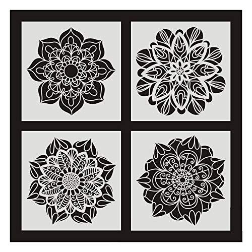 Fransande - 6 piezas de pintura para azulejos de pared, 30 x 30 cm, diseño vintage de flores, para azulejos de pared, muebles, pintura