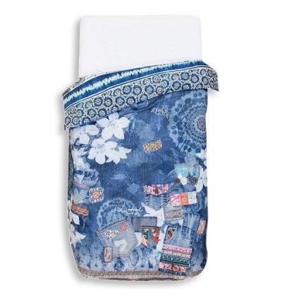 Desigual BED1_ Exotic 140* 200Bettbezug eine Person wendbar Baumwolle Jeans Blau 140x 200cm