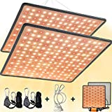 SEAMETAL 2-Pack LED Grow Lights Full Spectrum, 45W Plant Growing Lamp with Red Spectrum for Indoor Cultivation, Greenhouse, Grow Tent, Hydroponics, Horticultural