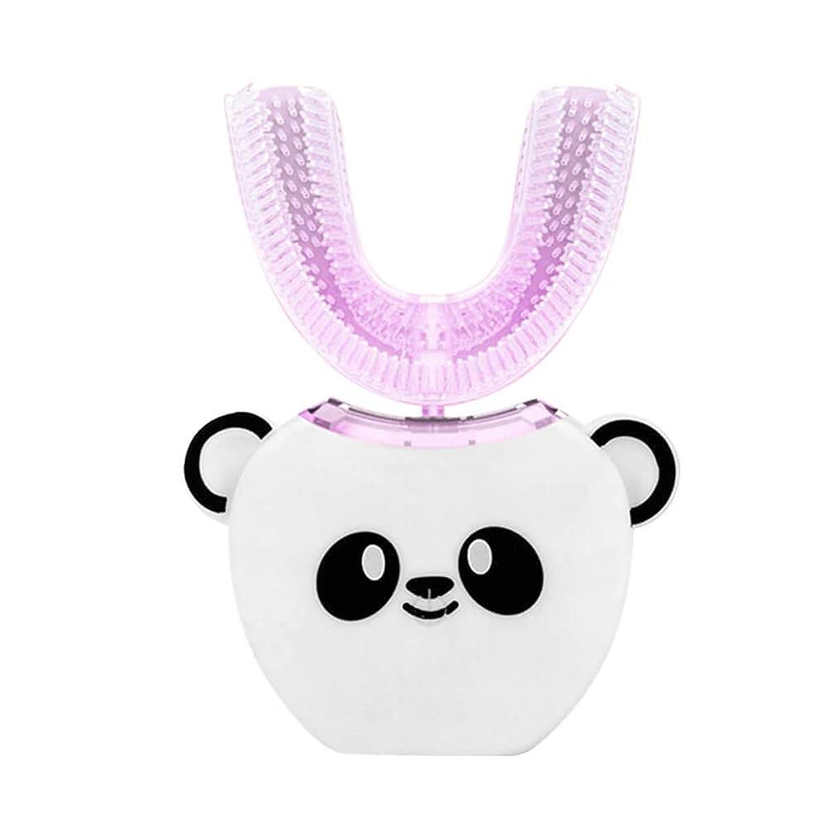 思いつく柔らかい足リサイクルする電動歯ブラシ 360°超音波ホワイトニング IPX7防水自動マウスクリーナー子供のための 白