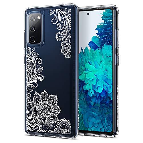 CYRILL Cecile kompatibel mit Samsung Galaxy S20 FE Hülle (2020) 6,5 Zoll Transparent Motiv Hart PC Back und Soft Silikon Bumper Handyhülle Durchsichtige Hülle - Weiß Mandala