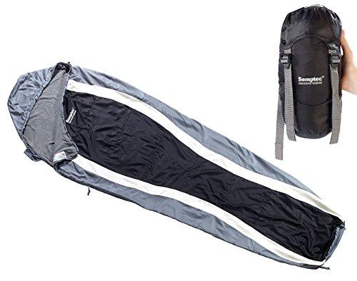 Semptec Urban Survival Technology Schlafsack Ultraleicht: Leichter Mumien-Schlafsack mit Fleece-Futter, 215 x 75 x 50 cm (Mumienschlafsack)