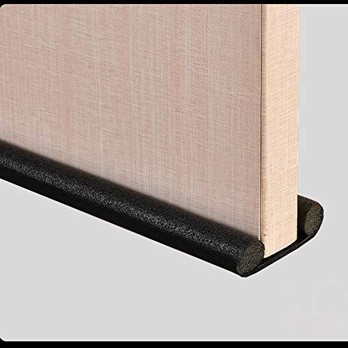N / A Door Draft Stopper 95Cm Door Seal Strip Windproof And Dust-Proof Under Door Draft Stopper Sound Proof Noise Reduction Foam Weather Stripping-Black
