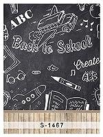 7X 7ftビニールデジタルBack to School Study黒板ブラックボード写真Studioバックドロップ背景