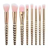 Brochas Para Maquillaje De Ojos 8 Pinceles De Maquillaje De Diamantes De Belleza Al Por Mayor