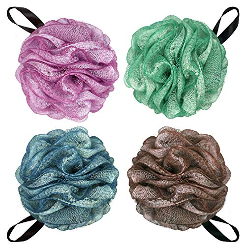 Bath Shower Ball Loofah Bath Shower Loofah Sponge Mesh Bulk Puffs Large Size 75g/PC 4PCS