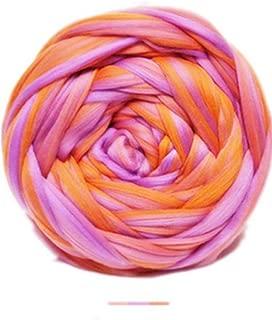 Chunky Yarn,Multicolor Wool Yarn, DIY Knitting, Bulky Yarn, Giant Yarn, Soft Blanket Rug Scarf Big Yarn (Multicolored Blue, 0.5kg-1.1lbs-28yards)