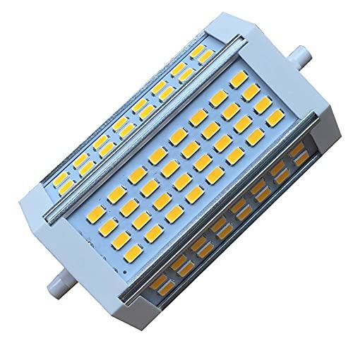 R7S LED 118mm Bombilla 30W Regulable 3000-6000K Doble terminación J118 Reemplazo 250W Luz de Enchufe Horizontal halógena para Luces de jardín al Aire Libre