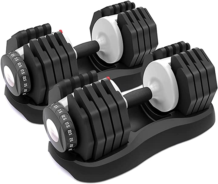 Manubri regolabili ativafit (set di 2) - manubri per palestra da casa per l`allenamento di tutto il corpo B094JHMDNF