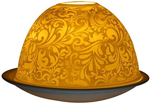 Himmlische Düfte Geschenkartikel GmbH Ornamente Windlicht, Porzellan, Weiss, 12x12x8 cm