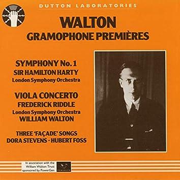 Walton Gramophone Premieres