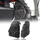 Hooke Road Roll Bar Storage Bags Organizer Saddle Bag for 1997-2021 Jeep Wrangler TJ JK JL Unlimited 4-Door - Pair