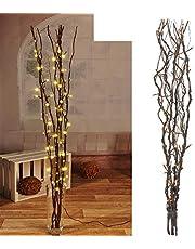 Mojawo® Lichttak met 80 leds bruin verlichting lichtketting lichttak decoratie lichten tak