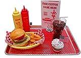 Cheeseburger Fake Food Car Hop Tray