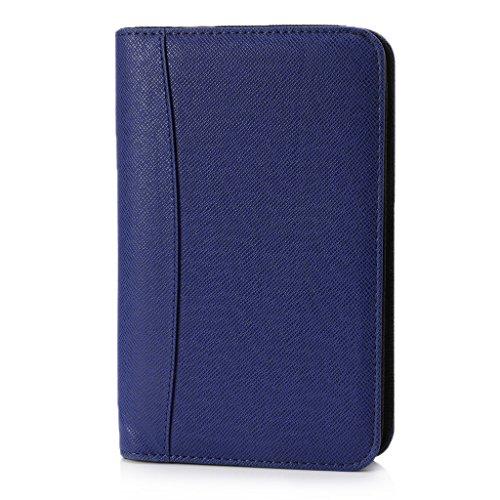 Ocobudbxw Funda de Cuero PU de Moda Duradera A6 Cuaderno de Cremallera Bloc de Notas de Negocios de Hojas Sueltas con calculadora