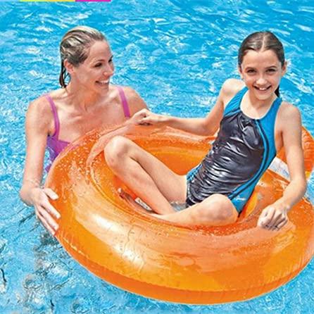 Queta Flotador para Piscina y Playa , Colchoneta Hinchable de Piscina, Flotador de Tumbona Inflable del Agua, Flotante Colchoneta para Partido Piscina Playa para Niños Adultos (Naranja)
