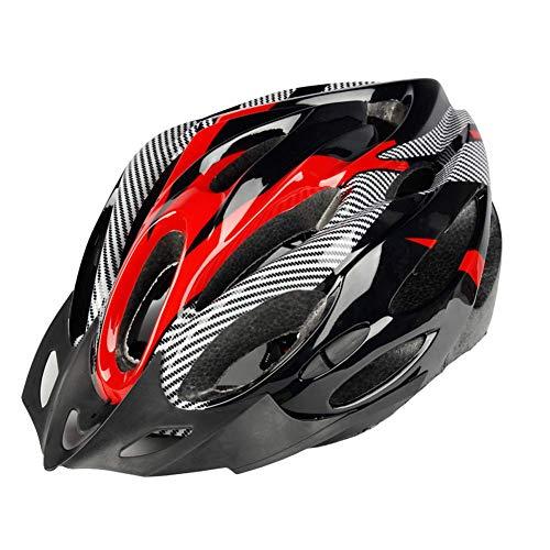 Fahrradhelm, EIN-Stück-Männer und Frauen Reithelm mit insektendichte Netz, Licht und atmungsaktiv, Verstellbare Helmgröße ZHNGHENG