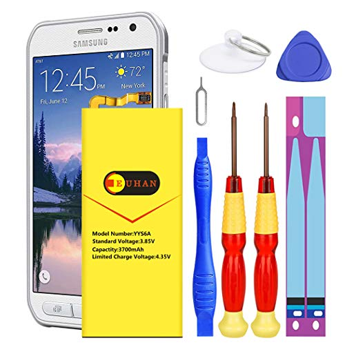Galaxy S6 Active Battery, Euhan 3700mAh Li-Polymer Internal Replacement Battery EB-BG890ABA for Samsung Galaxy S6 Active SM-G890 G890A G890F with Repair Replacement Kit Tools [24 Month Warranty]