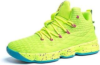 comprar comparacion Zapatos Hombre Deporte de Baloncesto Sneakers de Malla para Correr Zapatillas Antideslizantes Negro Rojo Champán Verde Bri...