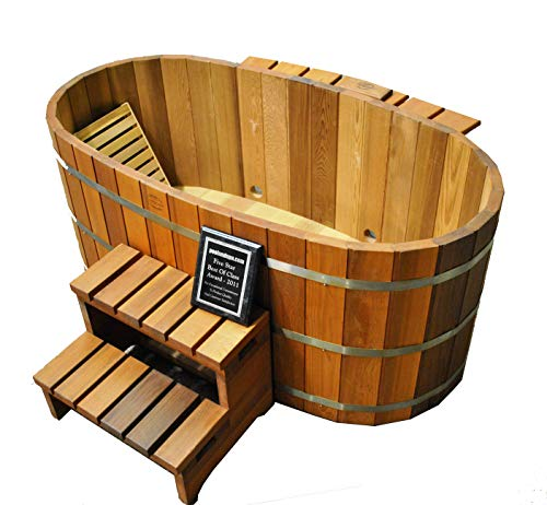 Northern Lights Group Japanese Wood Ofuro Soaking Tub for 2 - Wood Fired Heater