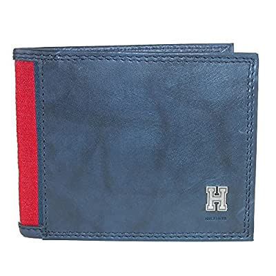 Tommy Hilfiger Mens Leather Traveler Passcase Bifold Wallet,Blue,One Size