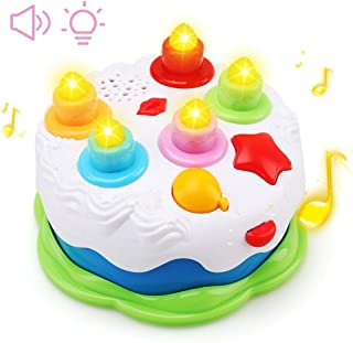 Amy&Benton Kids Birthday Cake Toy for Baby & Toddlers with Counting Candles & Music, Gift Toys for 1 2 3 4 5 Years Old Boy...