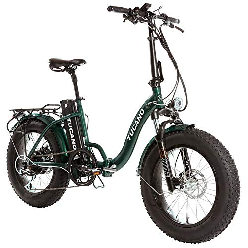 Monster 20″ LOW-e-e-Bike Plegable - Suspensión Delantera - Motor 500W (Verde)