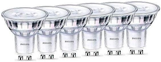Philips La lampe LED WarmGlow remplace 50W, GU10, blanc chaud (2200-2700 Kelvin), 345 lumens, réflecteur, dimmable-Lot de 6