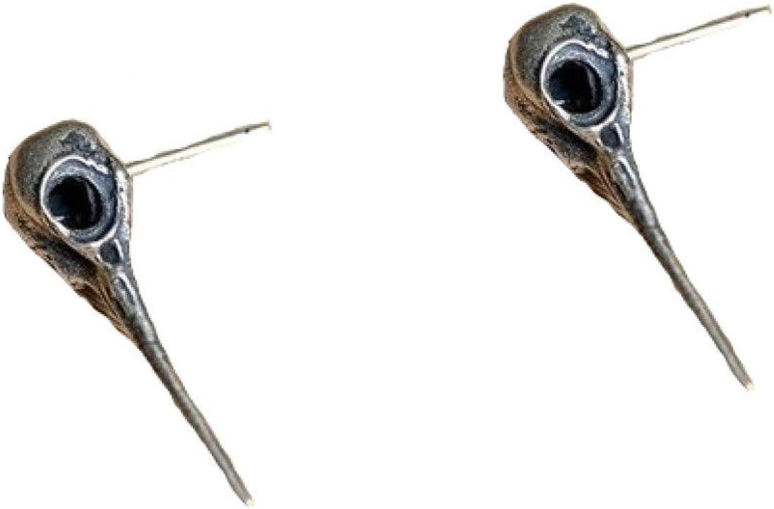 Gothic design earrings - bird skull